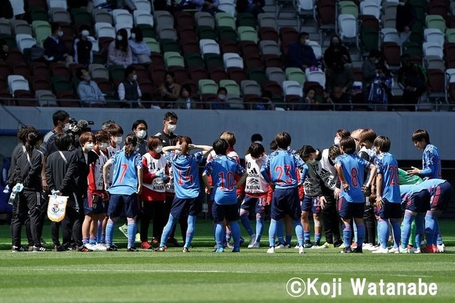 PHOTOギャラリー「ピッチの焦点」【国際親善試合 日本女子代表vsパナマ女子代表 2021年4月11日 6:04キックオフ】(撮影/渡辺航滋)の画像001