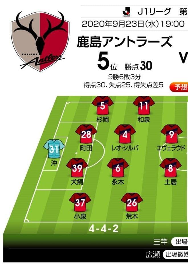 「J1プレビュー」9/23 鹿島-湘南「好調チームのリベンジなるか」の画像001