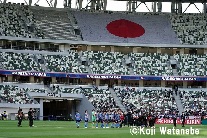PHOTOギャラリー「ピッチの焦点」【国際親善試合 日本女子代表vsパナマ女子代表 2021年4月11日 6:04キックオフ】(撮影/渡辺航滋)の画像018