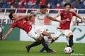 「レッドカードの追い打ち」原悦生PHOTOギャラリー「サッカー遠近」 浦和ー名古屋の画像005