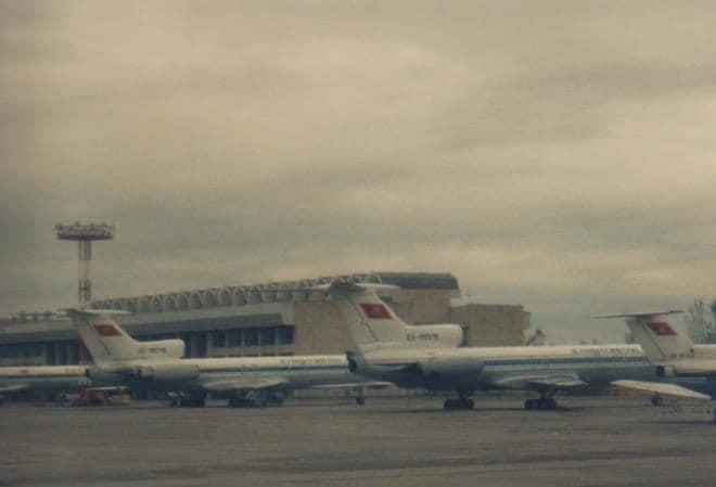 後藤健生の「蹴球放浪記」連載第64回「ソ連が建設した無駄に巨大な空港ターミナル」の巻(1)97年キルギス共和国の首都ビシュケクでの思い出の画像003