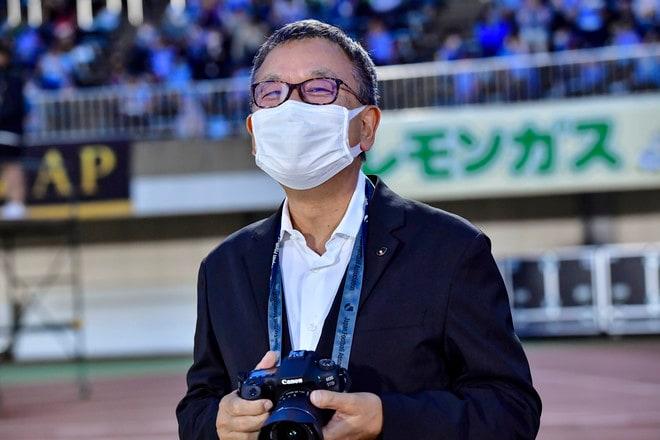 湘南―川崎で珍事! 村井満チェアマンがカメラマンとして川崎を撮影していた!の画像007
