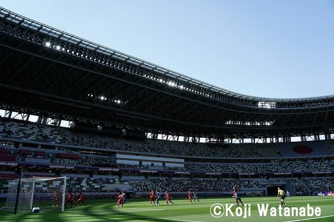 PHOTOギャラリー「ピッチの焦点」【国際親善試合 日本女子代表vsパナマ女子代表 2021年4月11日 6:04キックオフ】(撮影/渡辺航滋)の画像002