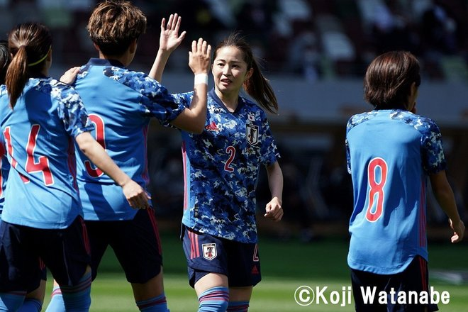 PHOTOギャラリー「ピッチの焦点」【国際親善試合 日本女子代表vsパナマ女子代表 2021年4月11日 6:04キックオフ】(撮影/渡辺航滋)の画像007