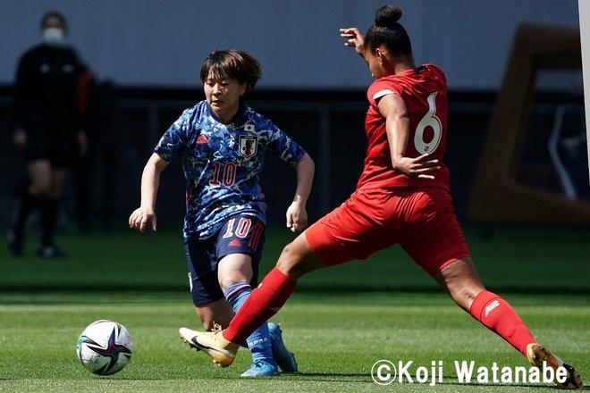 PHOTOギャラリー「ピッチの焦点」【国際親善試合 日本女子代表vsパナマ女子代表 2021年4月11日 6:04キックオフ】(撮影/渡辺航滋)の画像003