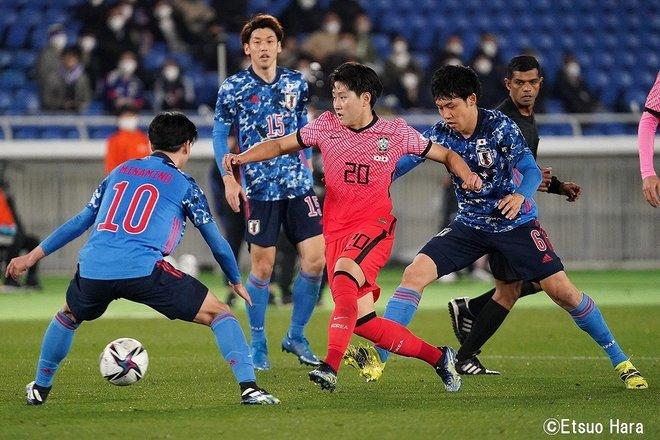 【日韓戦】「ソン・フンミンを撮りたかった」2021年3月25日 原悦生PHOTOギャラリー「サッカー遠近」 日本ー韓国の画像004